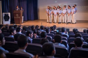 Prayer by students of N.L. Dalmia High School