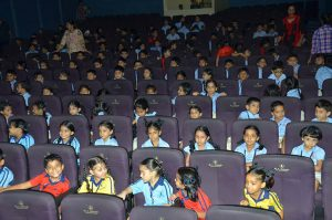 Students enjoying the screening
