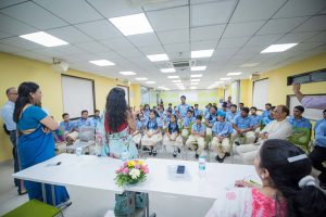 CEO, CFSI interacting with the students