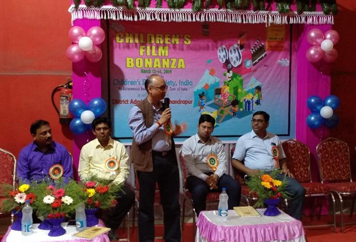 (L-R) Shri. Jitendra Keni, Inspector (Exh), CFSI; Shri. Dipendra Lokhande, Education Officer, Primary, Chandrapur; Shri Rajesh Gohil, Accounts Officer and Administrative Officer (Addl.Chg.), CFSI; Shri. Rahul Kardile, CEO, Zilla Parishad, Chandrapur; Shri. Sanjay Dorlikar, Education Officer, Secondary, Chandrapur.