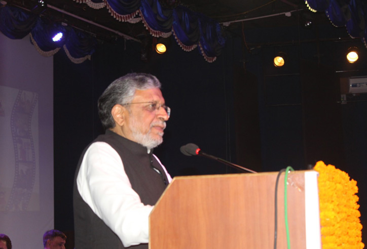 माननीय उपमुख्यमंत्री, श्री सुशील कुमार मोदी ने श्रोताओं को संबोधित करते हुए।
