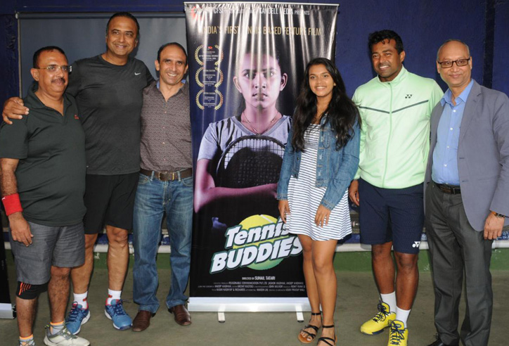 Leander Paes launches promo of tennis based film 'Tennis Buddies' produced by CFSI.